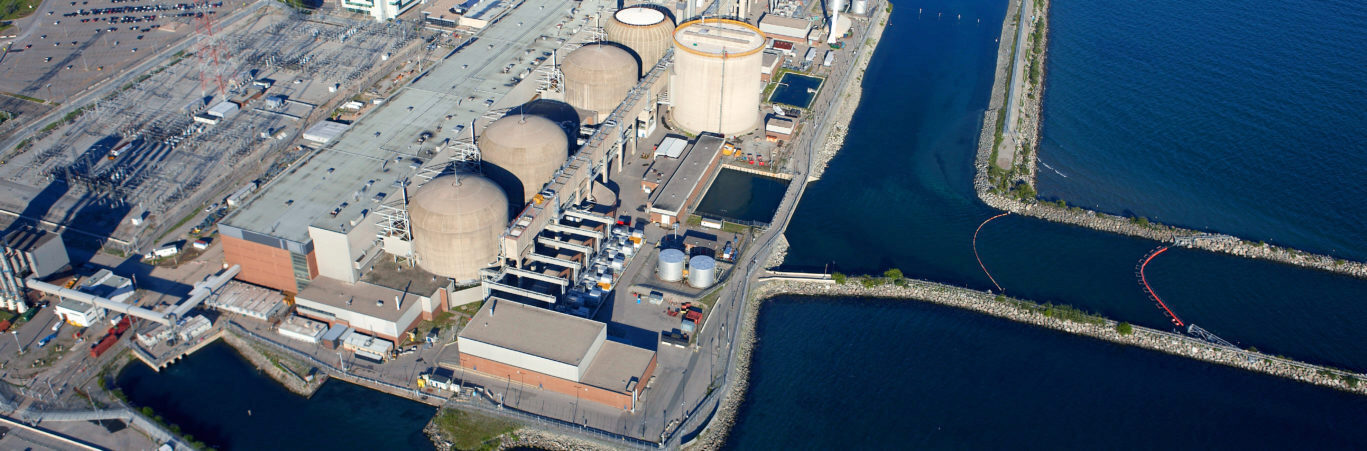 An aerial photograph of the Pickering nuclear site