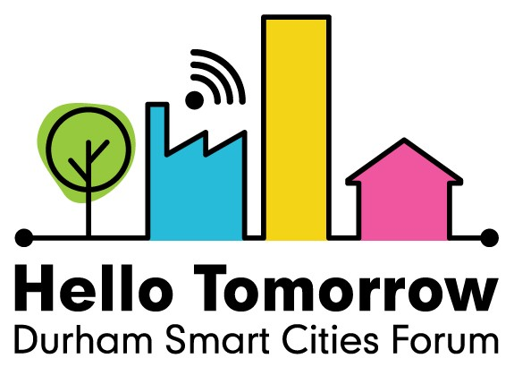 A picture of the Durham Hello Tomorrow logo