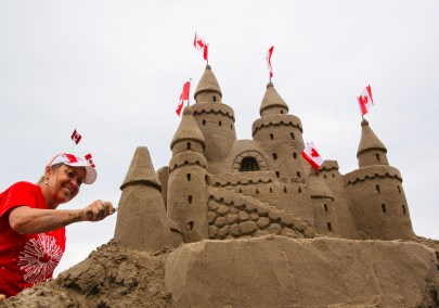 Canada Day Sand Castle