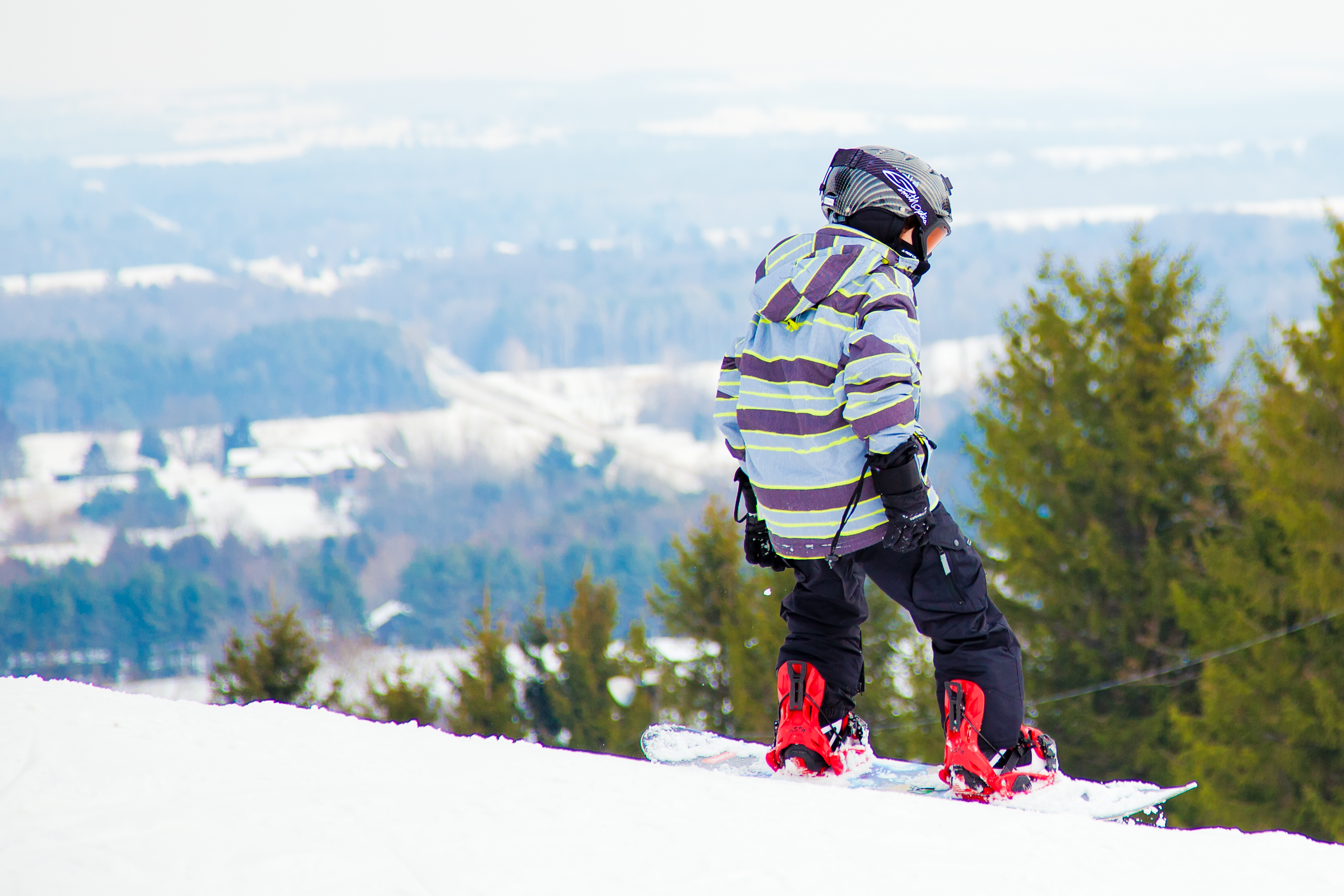 Snowboarder at Brimacombe