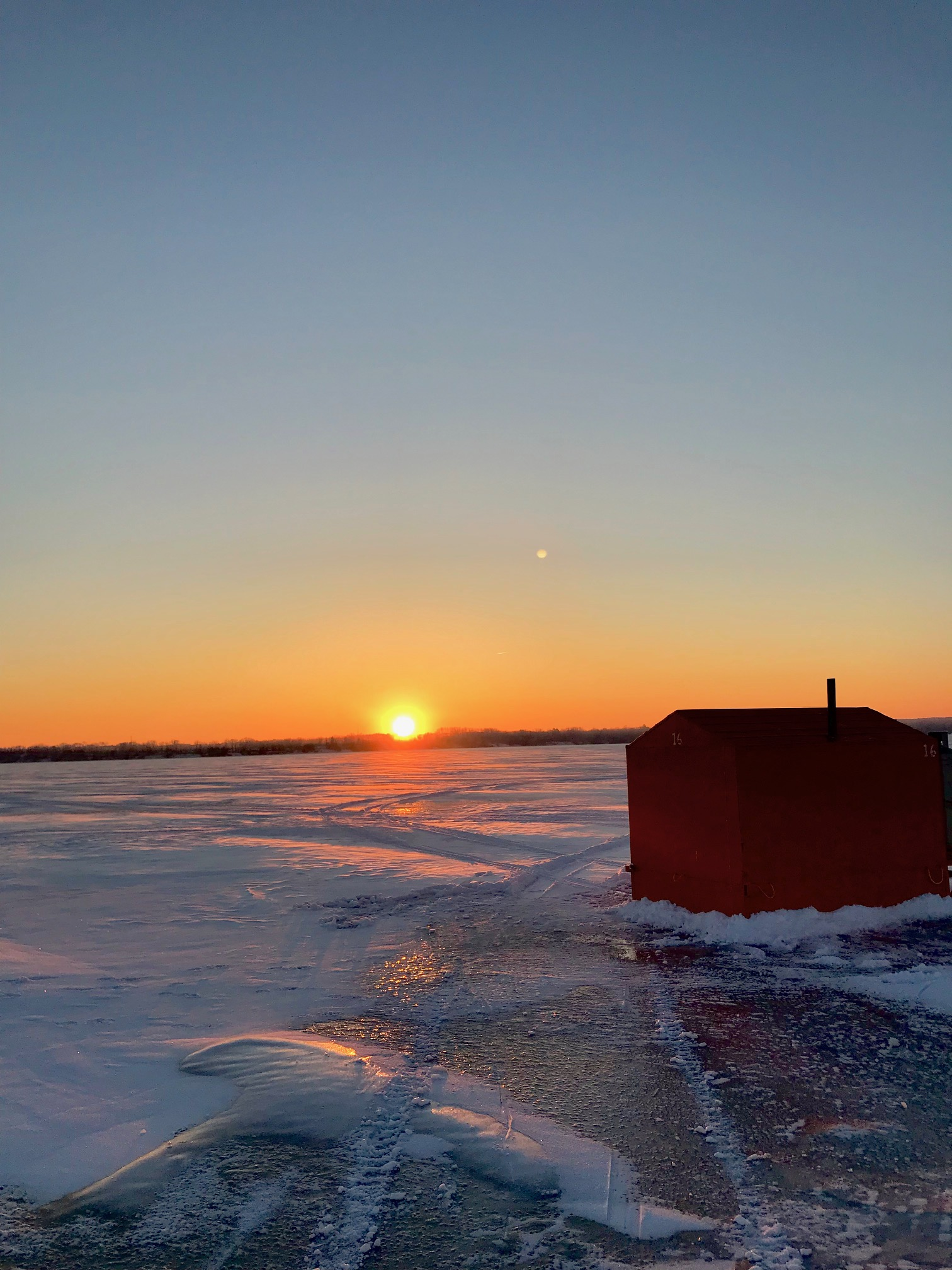 Photo: Ice fishing on Lake Simcoe