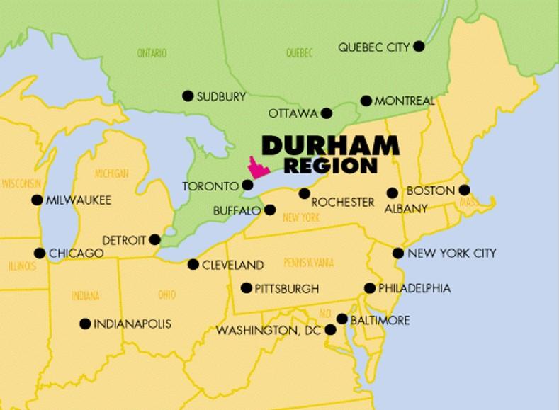 Map Of Durham Region Travel Trade   Region of Durham