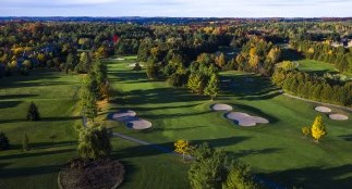 Aerial photo of golf course