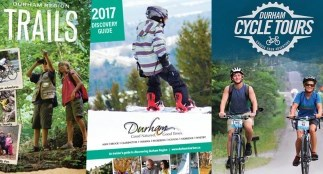 Collage of Durham Tourism guide brochures