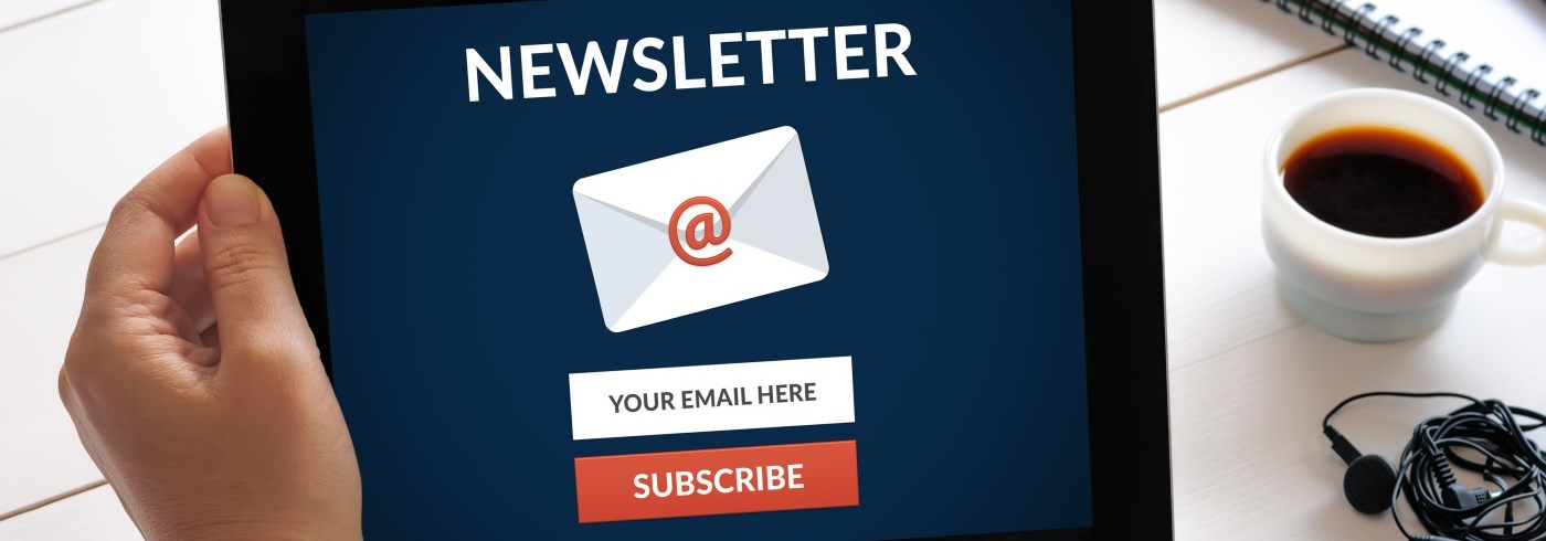Newsletter on tablet