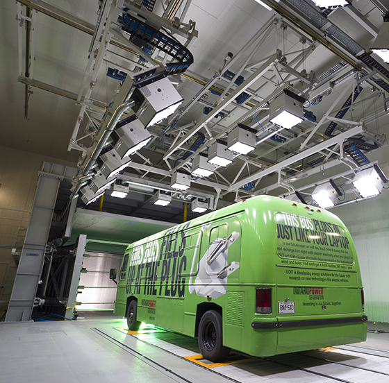 Electric Bus testing at ACE