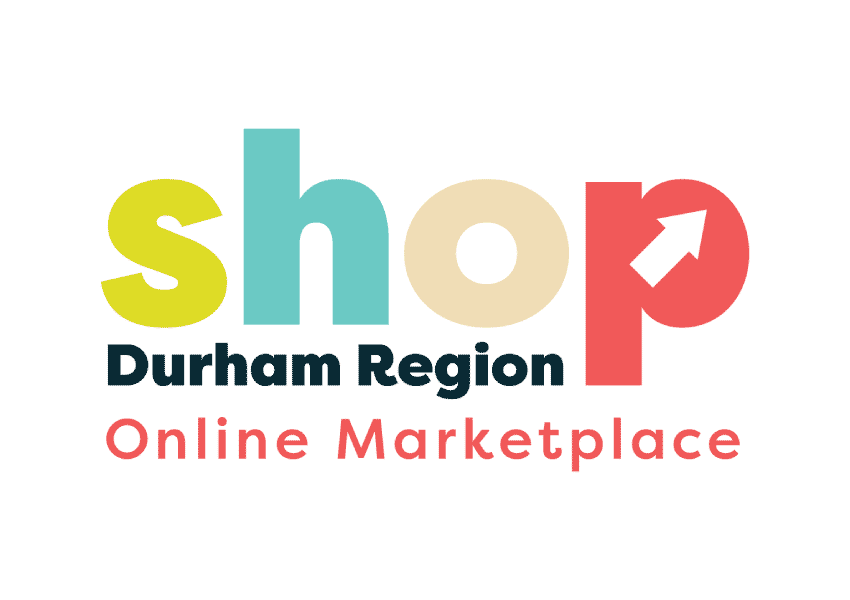 Shop Durham Region Online Marketplace logo.