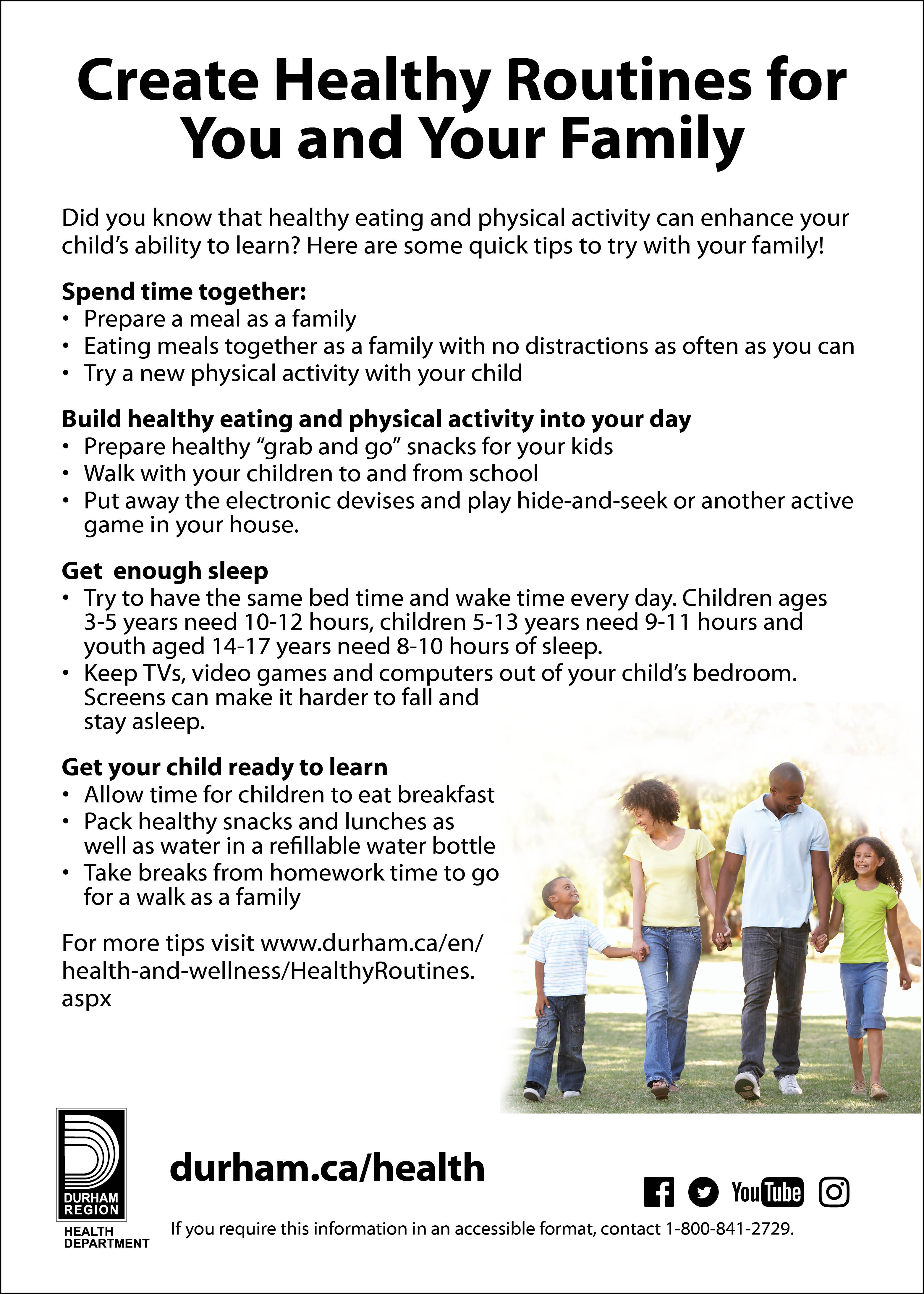 School Health - Region of Durham