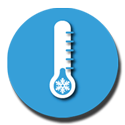 Cold alert thermometer icon.