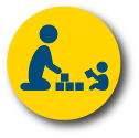 Parent and child icon.