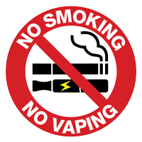 No smoking no vaping sign.