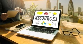 laptop saying resources