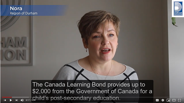 Watch a video about the Canada Learning Bond