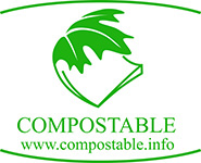 Compostable logo www.compostable.info