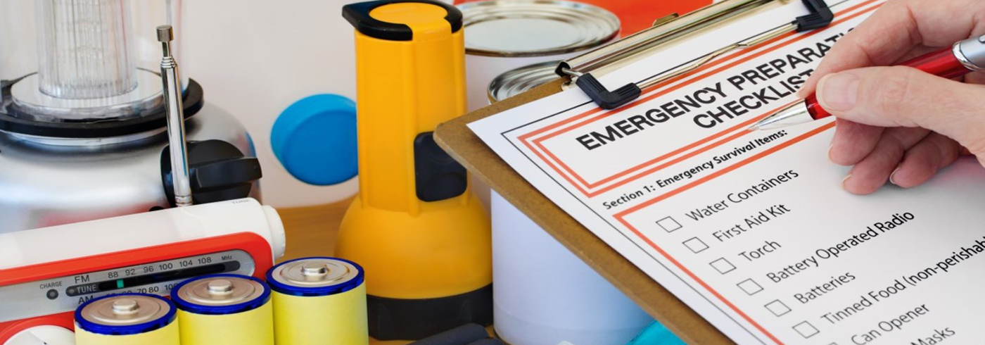 Emergency planning checklist and supplies