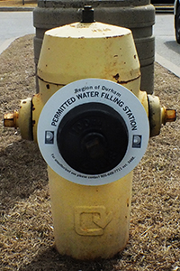 Water hydrant with ring