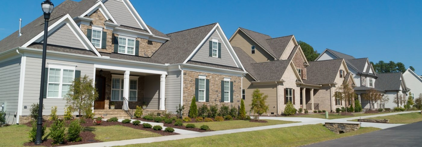 Homes in a subdivision