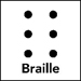 Six dots, braille