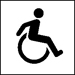 Symbol of someone in a wheel chair (International Symbol of Accessibility (ISA))