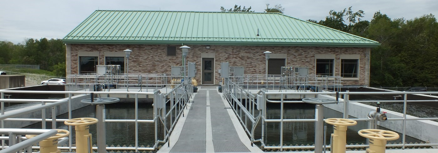 Exterior of Nonquon Water Pollution Control Plant