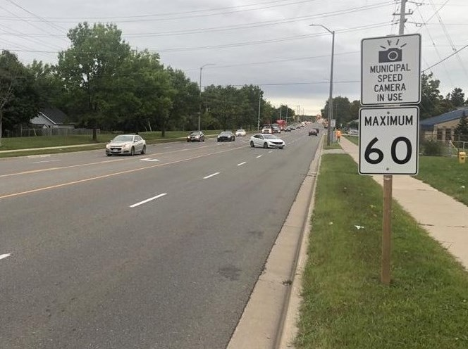 Photo of Automated Speed Camera Sign