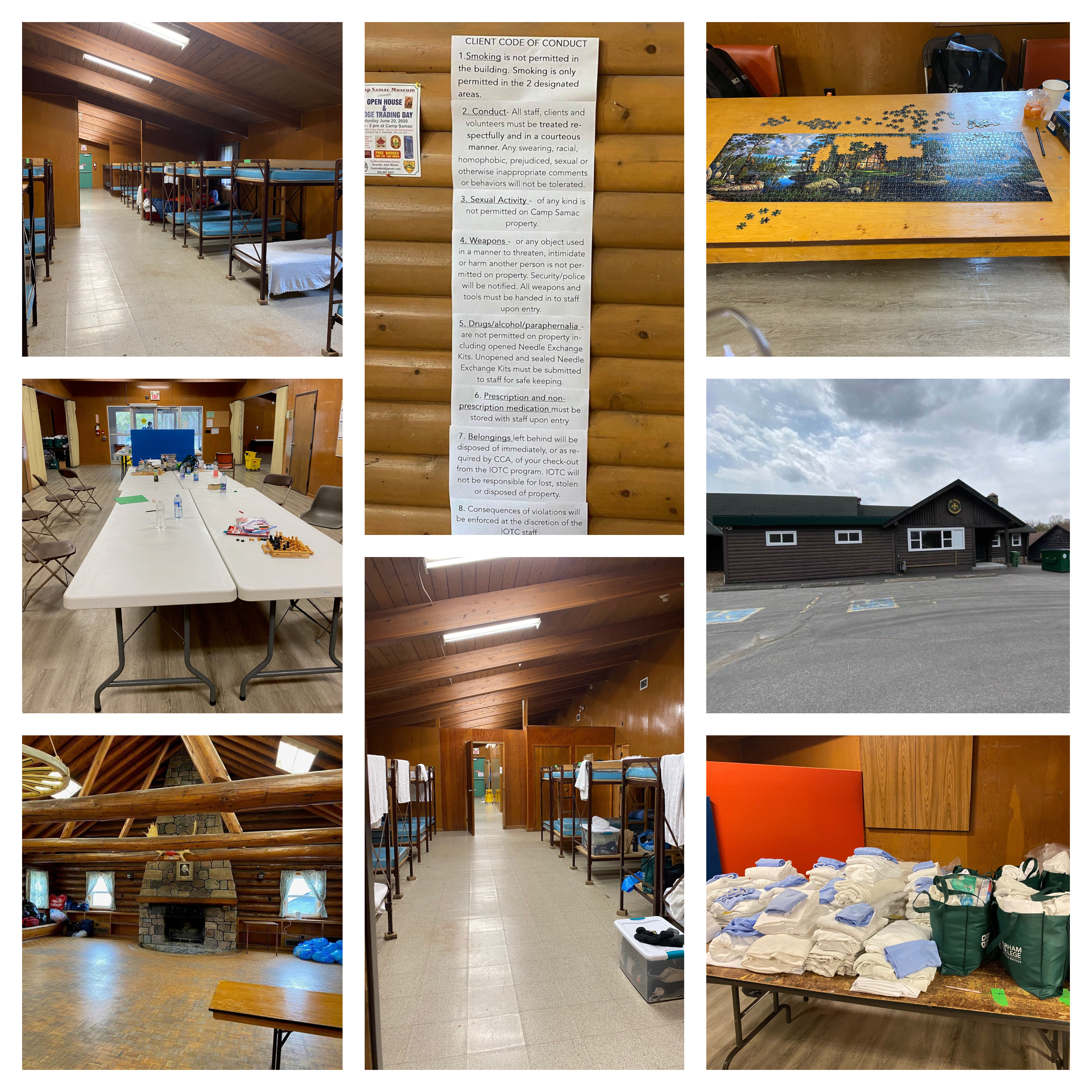 Collage of photos from Camp Samac In and Out of The Crisis program