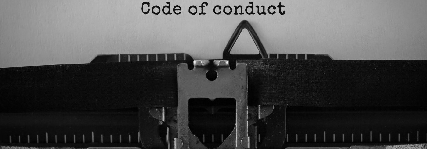 Typwriting typing words code of conduct