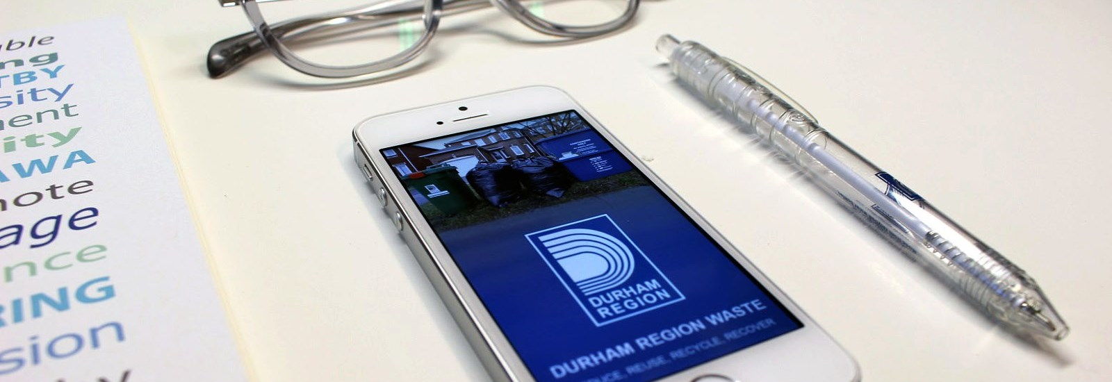 Durham Waste App on mobile device